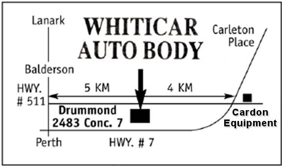 Directions to Whiticar Auto Body.